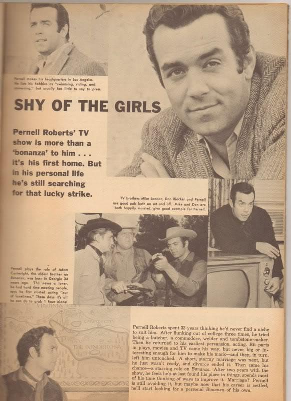 Bonanza May 2011: 'Shy Of The Girls'