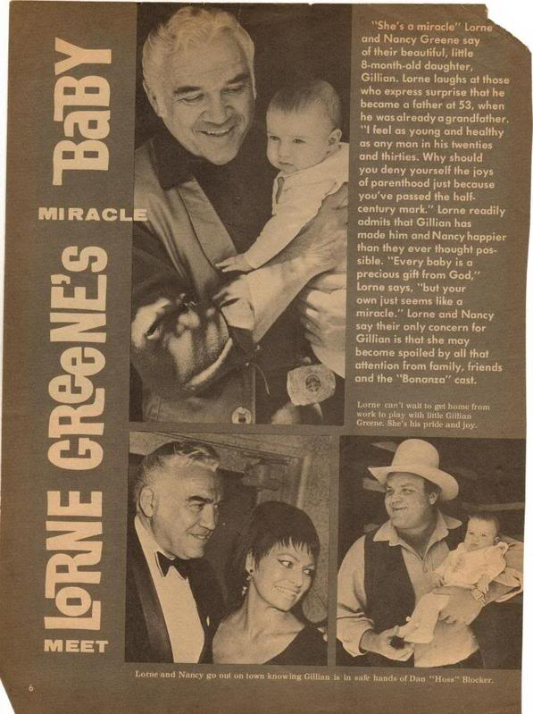 Bonanza May 2011: Meet Lorne Greene's Miracle Baby